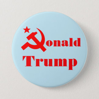 "Hammer and sickle ""Donald Trump"" 7.5 Cm Round Badge"