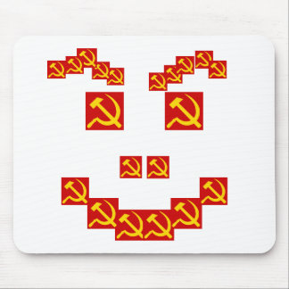 Hammer and sickle mouse pad