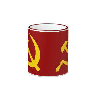 Hammer and Sickle Ringer Coffee Mug