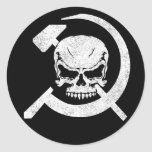 Hammer and Sickle with Skull Classic Round Sticker