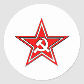 Hammer And Sickle With Star Classic Round Sticker
