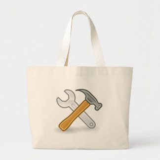 Hammer And Wrench Large Tote Bag
