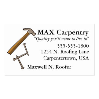 Hammer & Nails Business Card