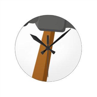 Hammer Round Clock