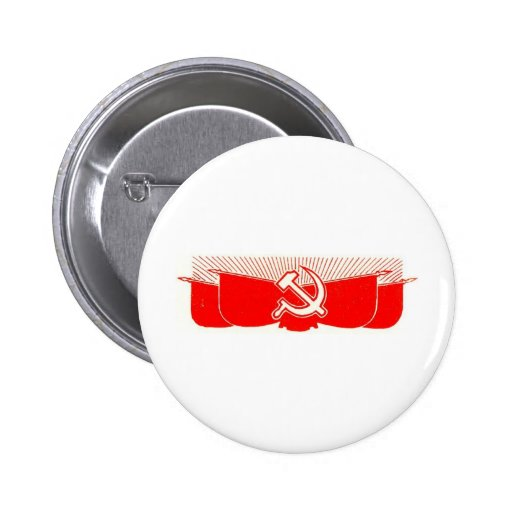 Hammer, Sickle, and Red Flags Pinback Buttons