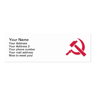 Hammer Sickle Business Card