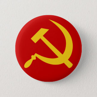 Hammer & sickle (yellow) button