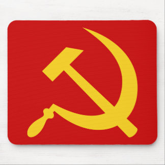 Hammer & sickle (yellow) mousepad
