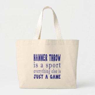 HAMMER THROW JUST A GAME LARGE TOTE BAG