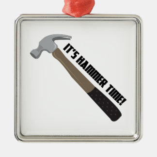 Hammer Time Metal Ornament