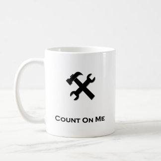 Hammer Wrench Count On Me black Basic White Mug