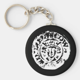 Hammered coin keyring, metal detecting gift basic round button key ring