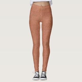 Hammered copper-look design leggings
