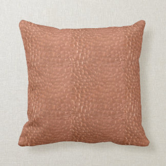 Hammered copper-look design throw pillow