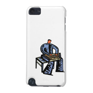 Hammered Dulcimer Player Graphic Blue Version iPod Touch 5G Cover