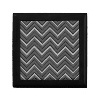 Hammered Metal Chevron City Stripes Gift Box