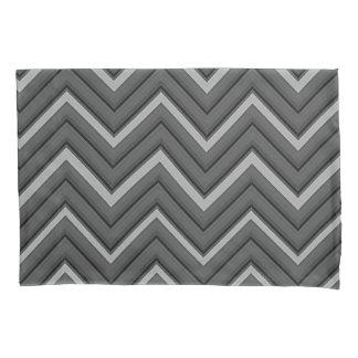 Hammered Metal Chevron City Stripes Pillowcase