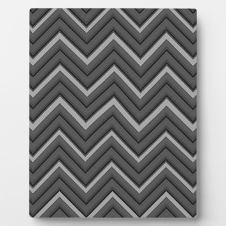 Hammered Metal Chevron City Stripes Plaque