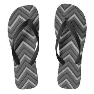hammered metal chevron striped thongs
