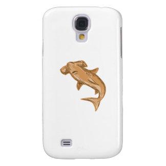Hammerhead Shark Drawing Galaxy S4 Case