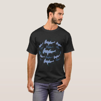 Hammerhead Shark Marine Biology Art T-Shirt
