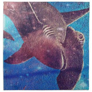 Hammerhead Shark Painting Napkin
