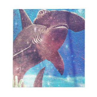 Hammerhead Shark Painting Notepad