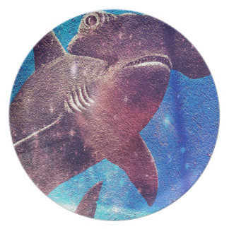Hammerhead Shark Painting Plate