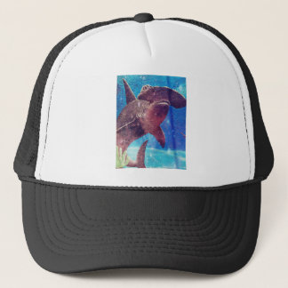 Hammerhead Shark Painting Trucker Hat