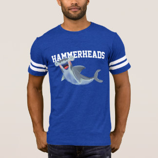 Hammerheads Shark Illustration Laughing Cute T-Shirt