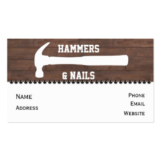 Hammers and Nails Construction Business Cards