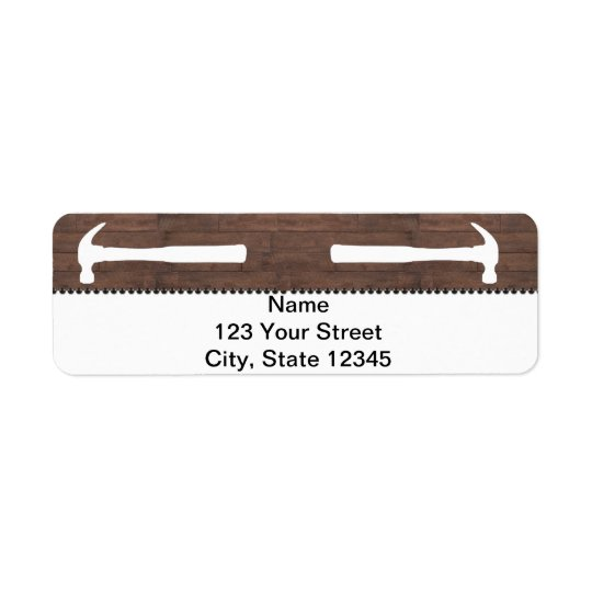 Hammers and Nails Construction Return Address Label