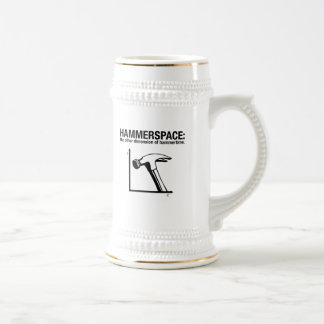 hammerspace: the other dimension of hammertime. beer steins