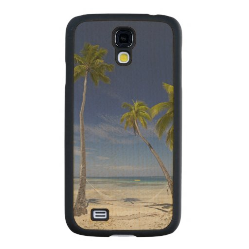 Hammock and palm trees, Plantation Island Resort Carved® Maple Galaxy S4 Case