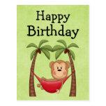 Hammock Monkey  Birthday Invitation