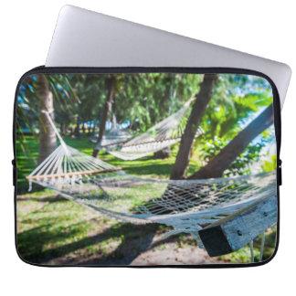 Hammock on the beach, Fiji Laptop Sleeve