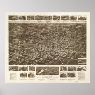 Hammonton New Jersey 1926 Antique Panoramic Map Poster