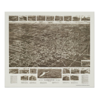 Hammonton, NJ Panoramic Map - 1926 Poster