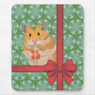 Hammy Christmas Hamster Christmas Mouse Pad