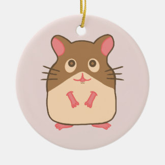 Hammy Hamster Round Ceramic Decoration