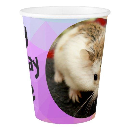 HammyVille - Cute Hamster Happy Birthday Paper Cup