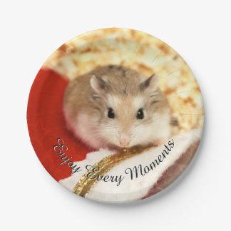 Hammyville - Cute Hamster Paper Plate