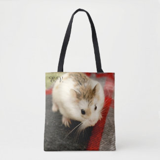 Hammyville - Cute Hamster with Initials Tote Bag