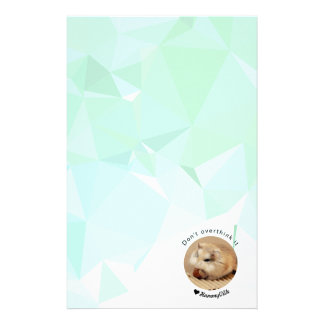 Hammyville - Cute Hamster with Motivational Quote Stationery