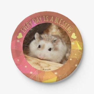 Hammyville - Cute Robo Hamster Blessing Paper Plate