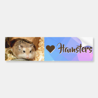 Hammyville - I Love Hamster Bumper Sticker