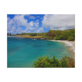 Hamoa Beach Hawaii Canvas Wall Art Print