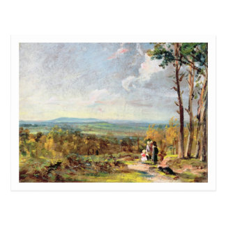 Hampstead Heath Looking Towards Harrow, 1821 (oil Postcard