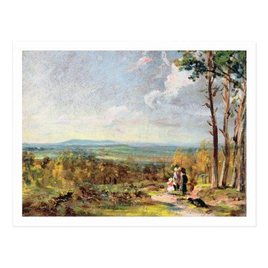 Hampstead Heath Looking Towards Harrow, 1821 (oil Postcard