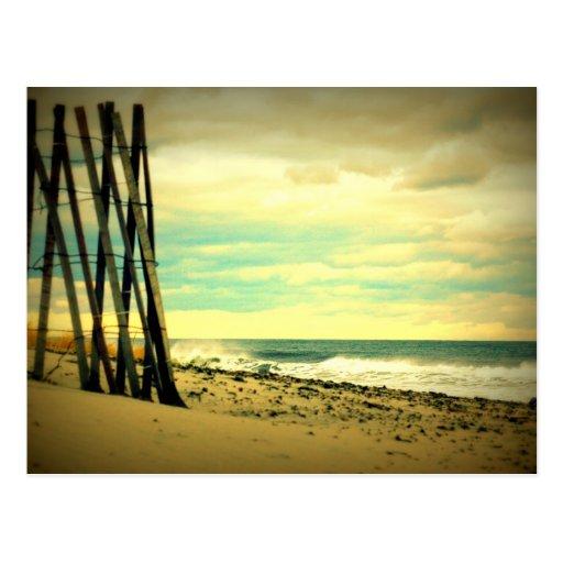 Hampton Beach Fence Post Card